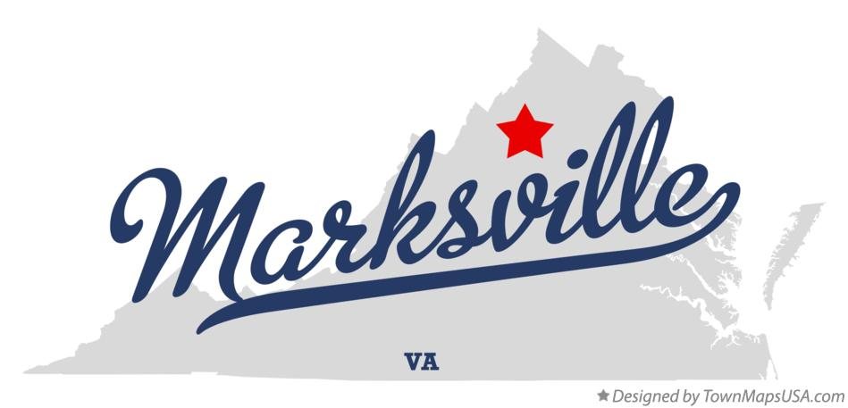 Map of Marksville Virginia VA