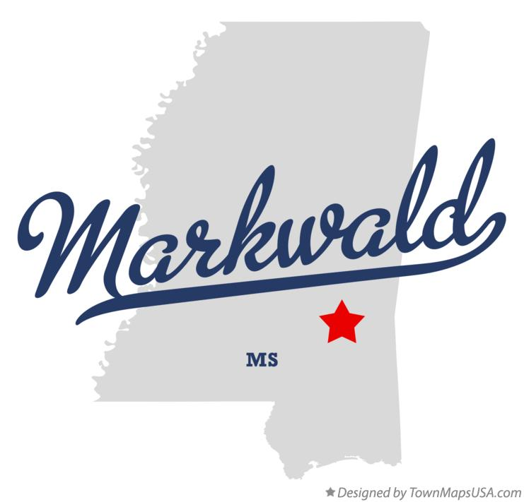 Map of Markwald Mississippi MS