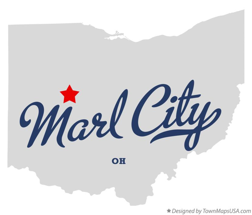 Map of Marl City Ohio OH