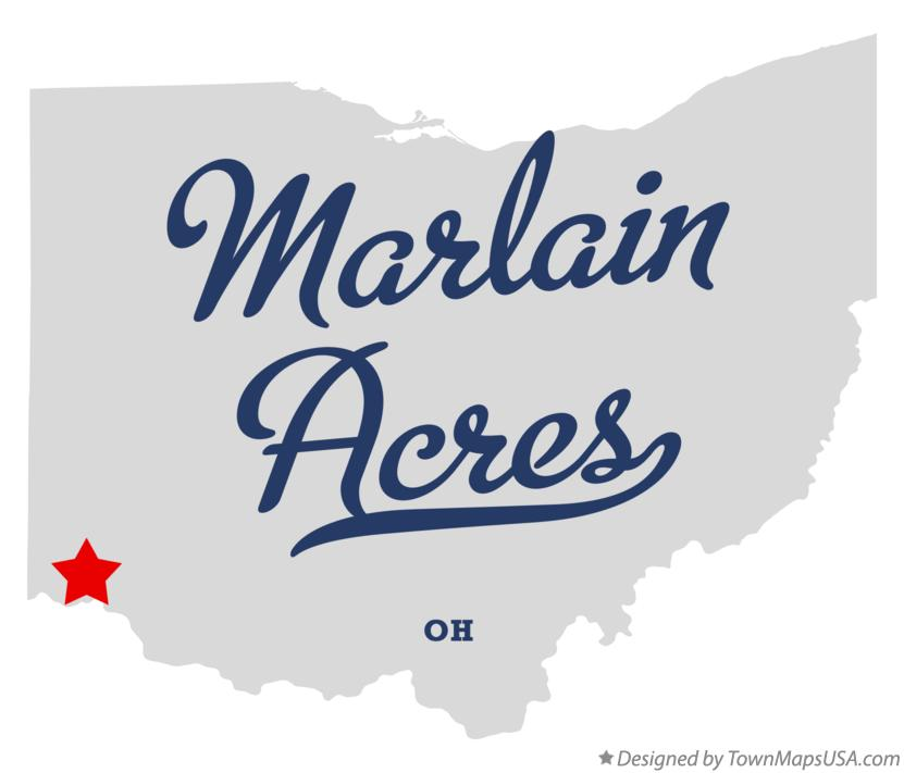 Map of Marlain Acres Ohio OH