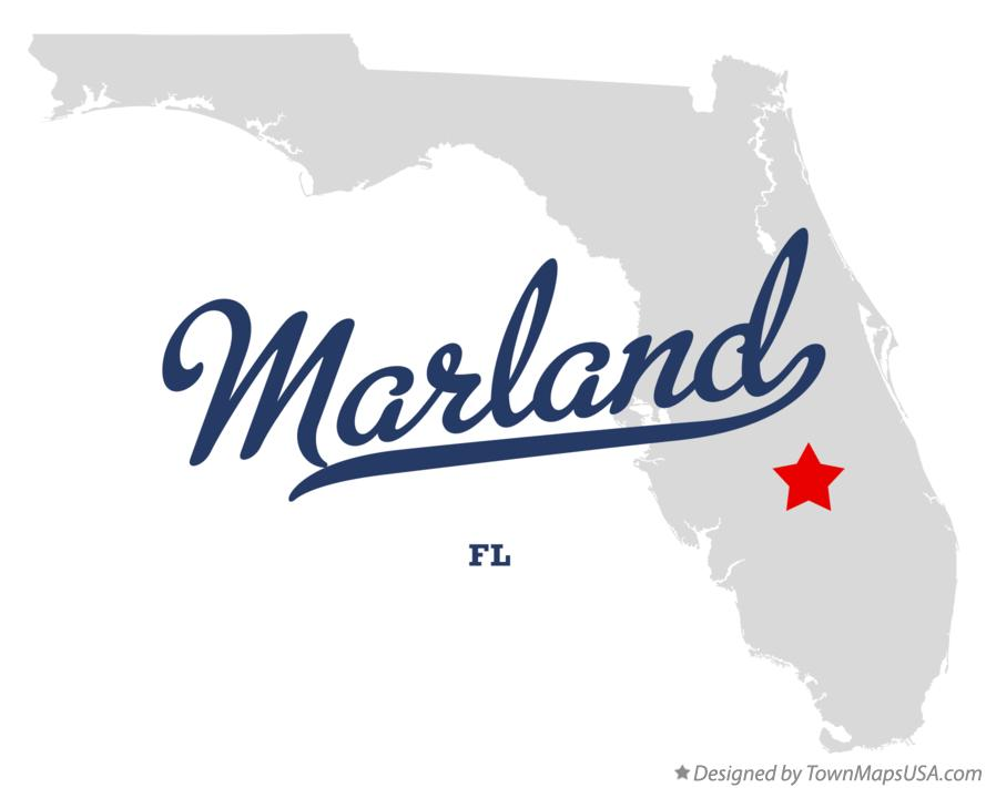 Map of Marland Florida FL