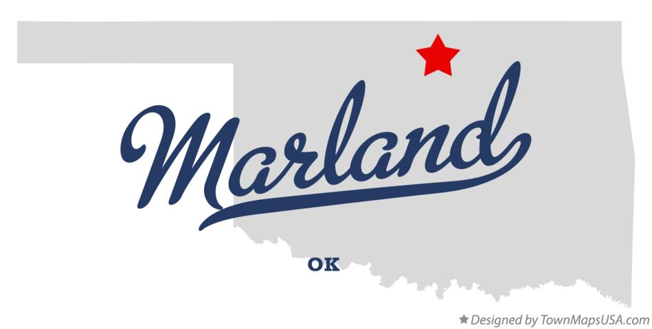 Map of Marland Oklahoma OK