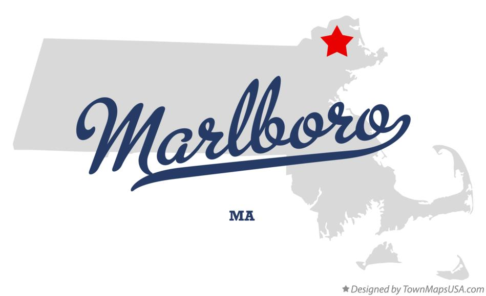 Map of Marlboro Massachusetts MA