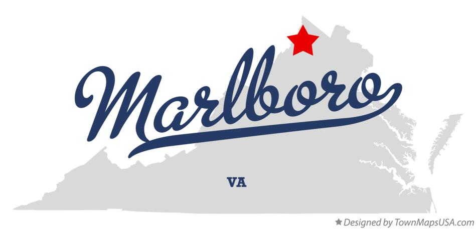 Map of Marlboro Virginia VA