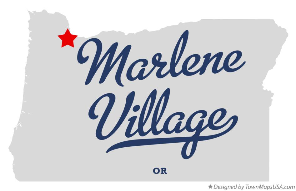 Map of Marlene Village Oregon OR