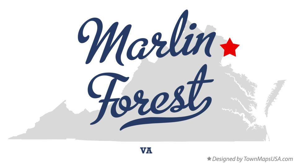 Map of Marlin Forest Virginia VA