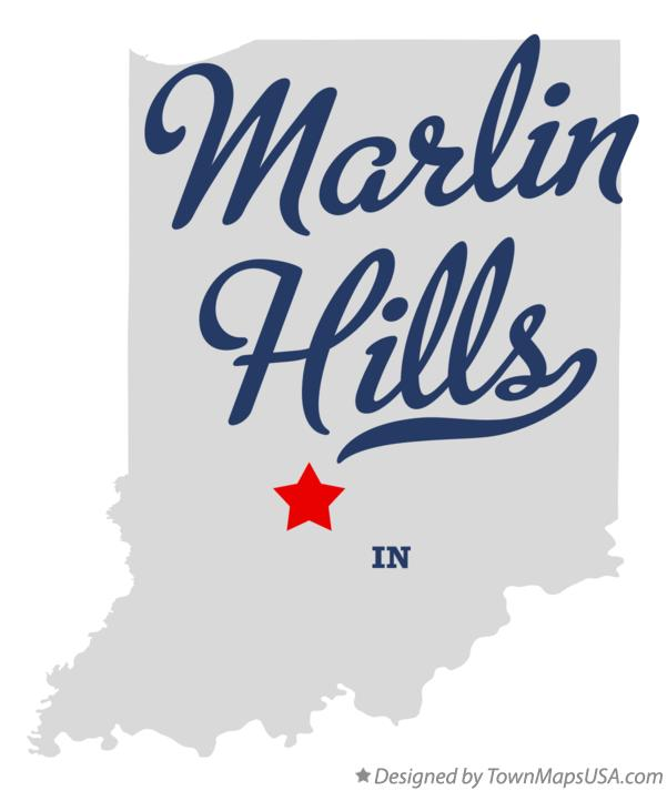 Map of Marlin Hills Indiana IN