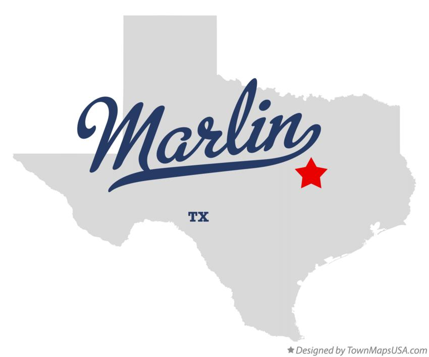 Map of Marlin Texas TX