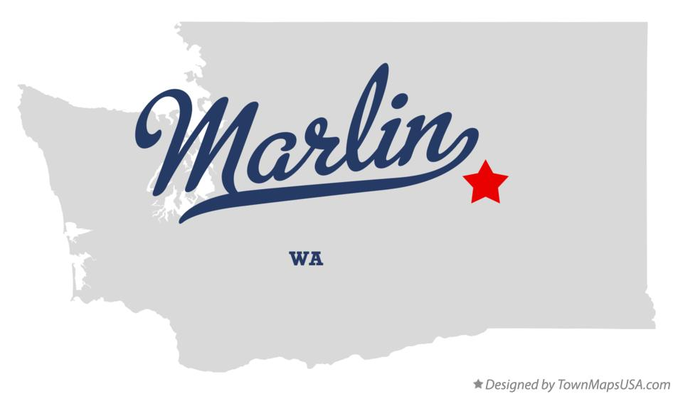 Map of Marlin Washington WA