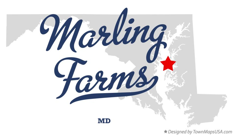 Map of Marling Farms Maryland MD