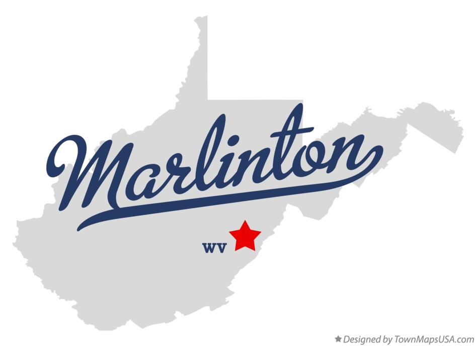 Map of Marlinton West Virginia WV