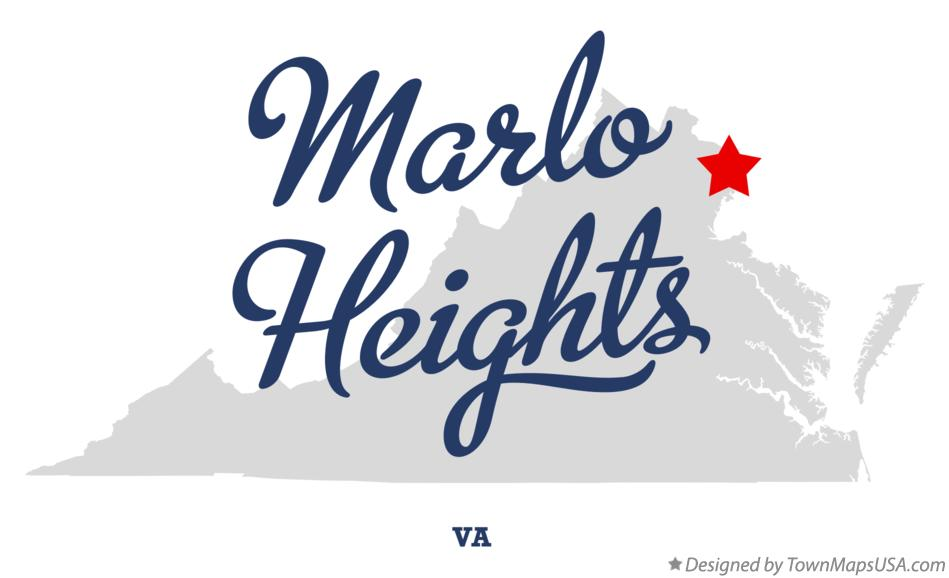 Map of Marlo Heights Virginia VA