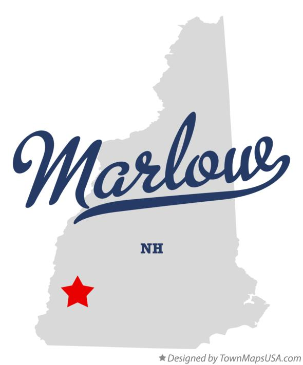 Map of Marlow New Hampshire NH