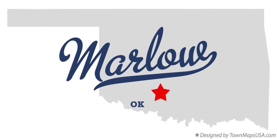 Map Of Marlow Ok Oklahoma