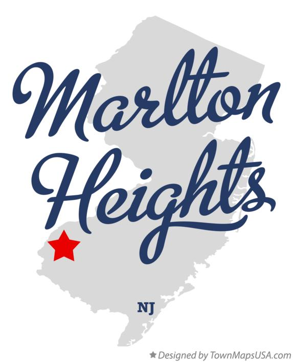Map of Marlton Heights New Jersey NJ