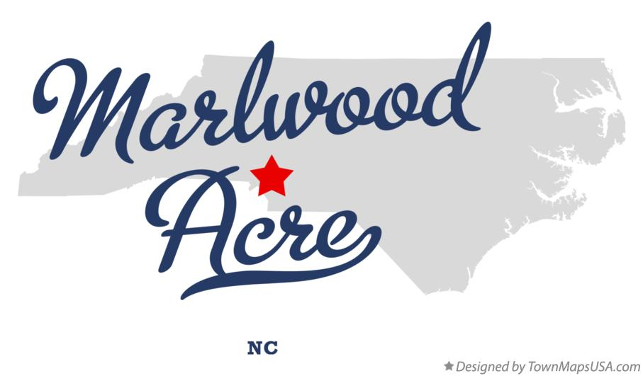 Map of Marlwood Acre North Carolina NC