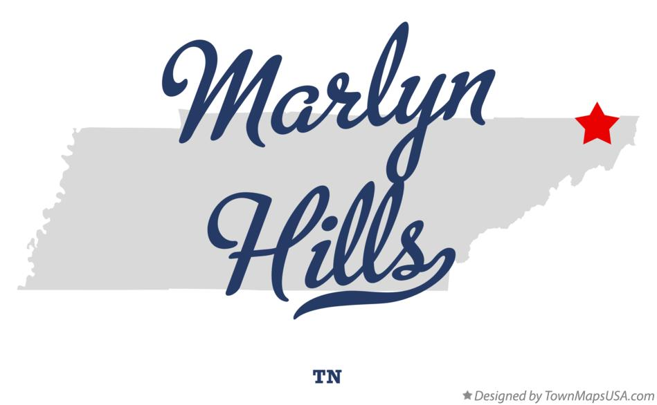 Map of Marlyn Hills Tennessee TN