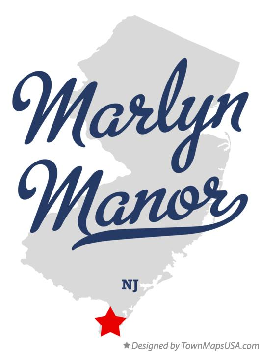 Map of Marlyn Manor New Jersey NJ