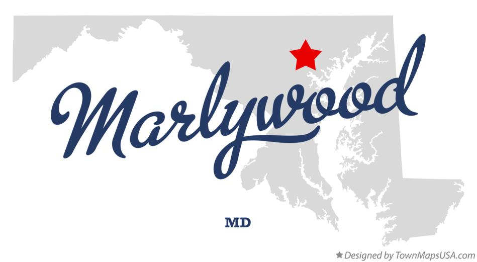 Map of Marlywood Maryland MD