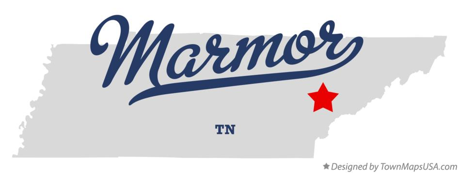 Map of Marmor Tennessee TN