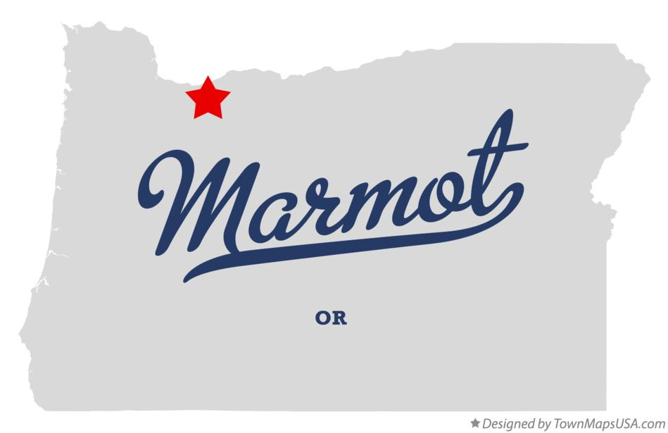 Map of Marmot Oregon OR