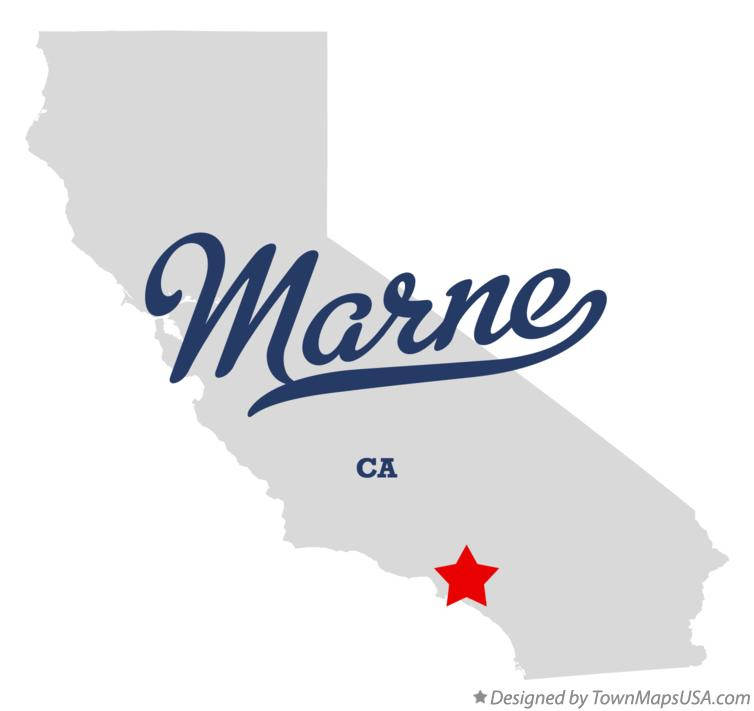 Map of Marne California CA