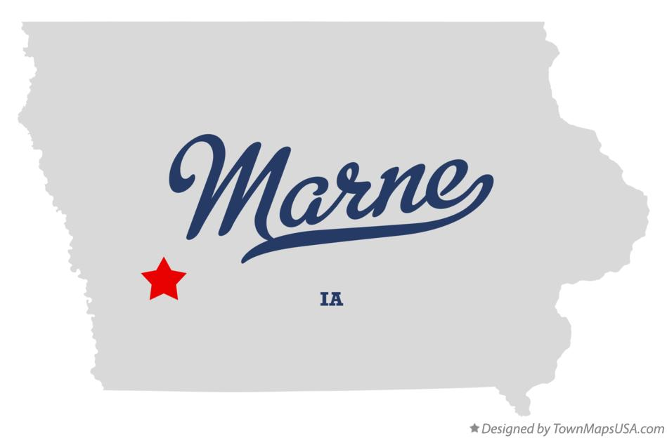 Map of Marne Iowa IA