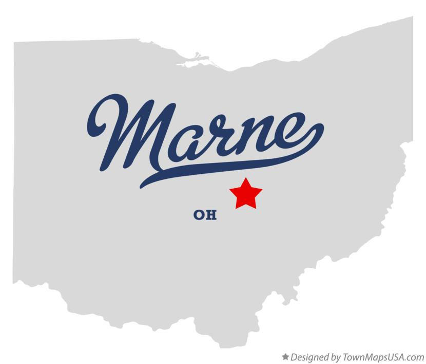 Map of Marne Ohio OH