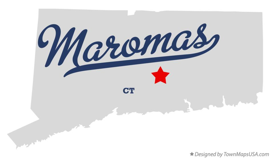 Map of Maromas Connecticut CT