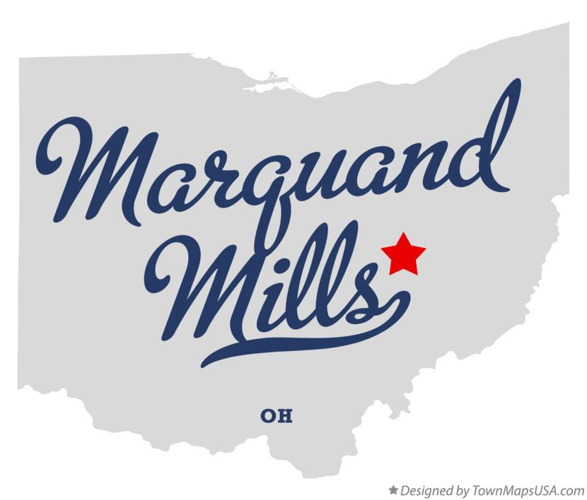 Map of Marquand Mills Ohio OH