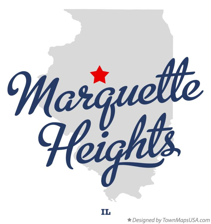 Map of Marquette Heights Illinois IL