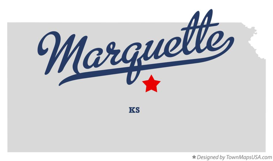 Map of Marquette Kansas KS