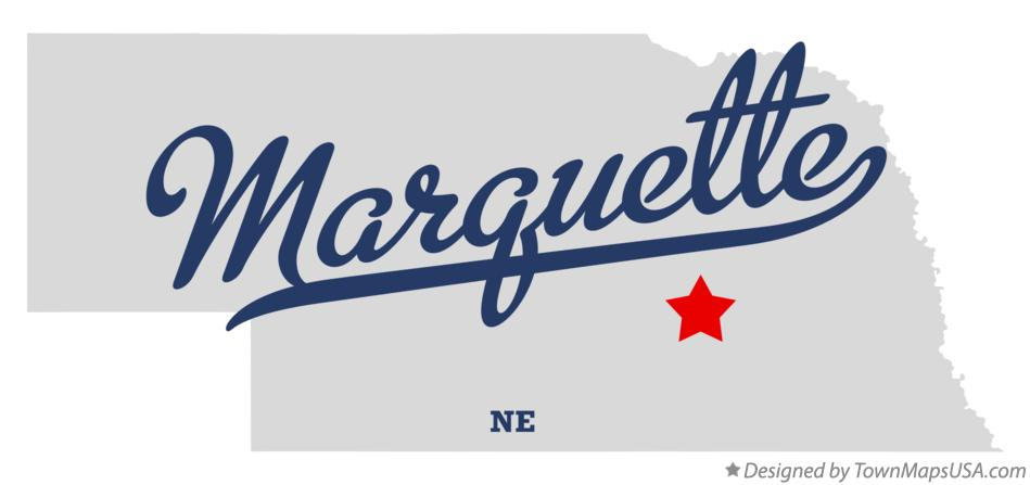 Map of Marquette Nebraska NE