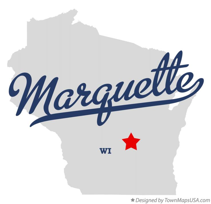 Map of Marquette Wisconsin WI
