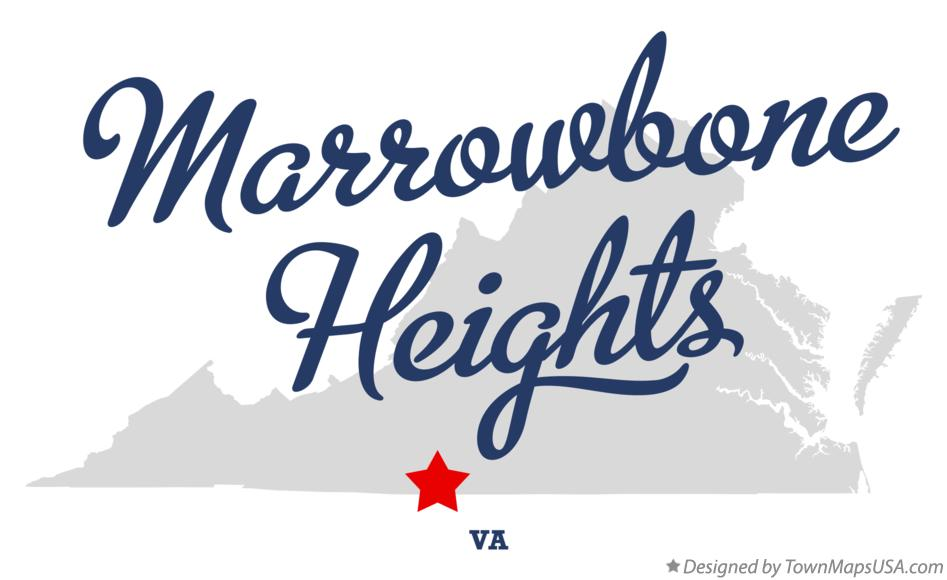 Map of Marrowbone Heights Virginia VA
