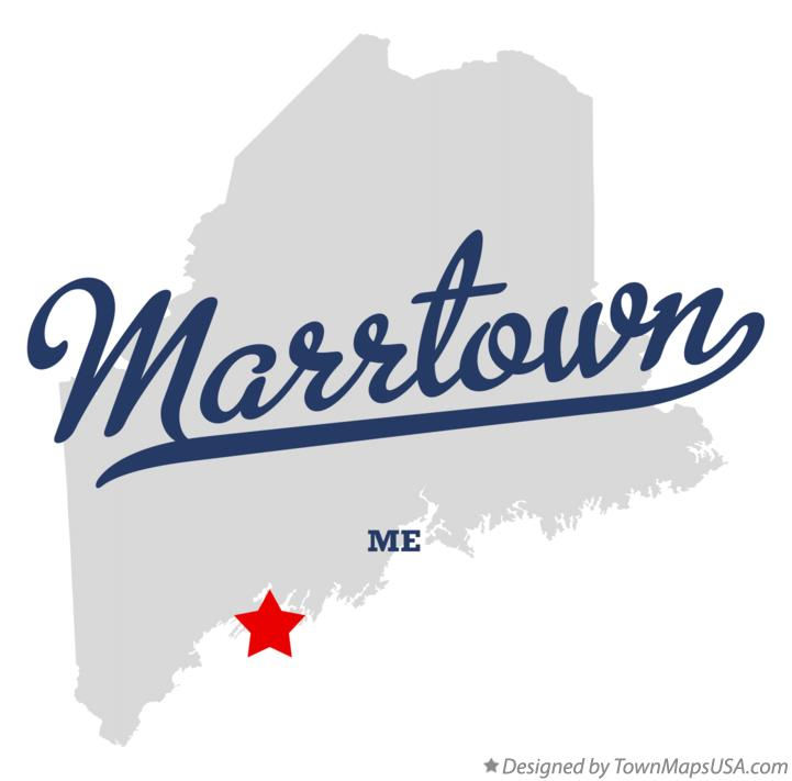 Map of Marrtown Maine ME