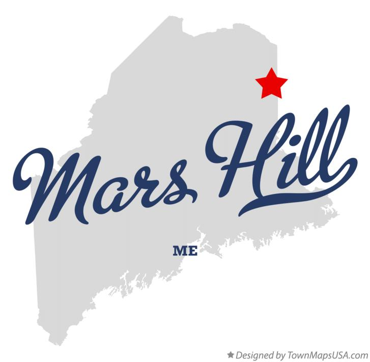 Map of Mars Hill Maine ME