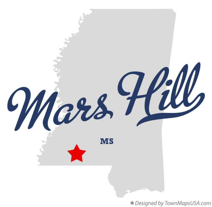 Map of Mars Hill Mississippi MS