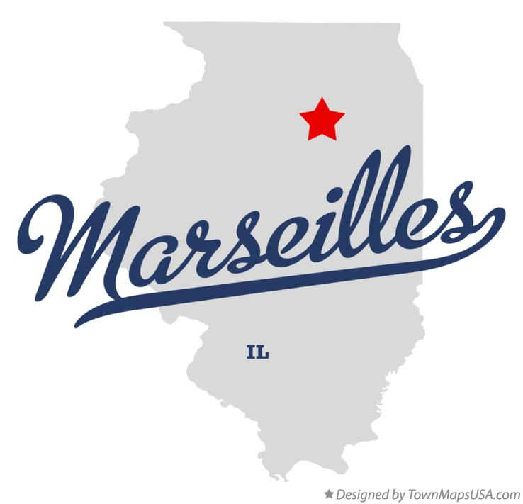 Map of Marseilles Illinois IL