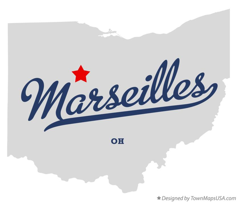 Map of Marseilles Ohio OH