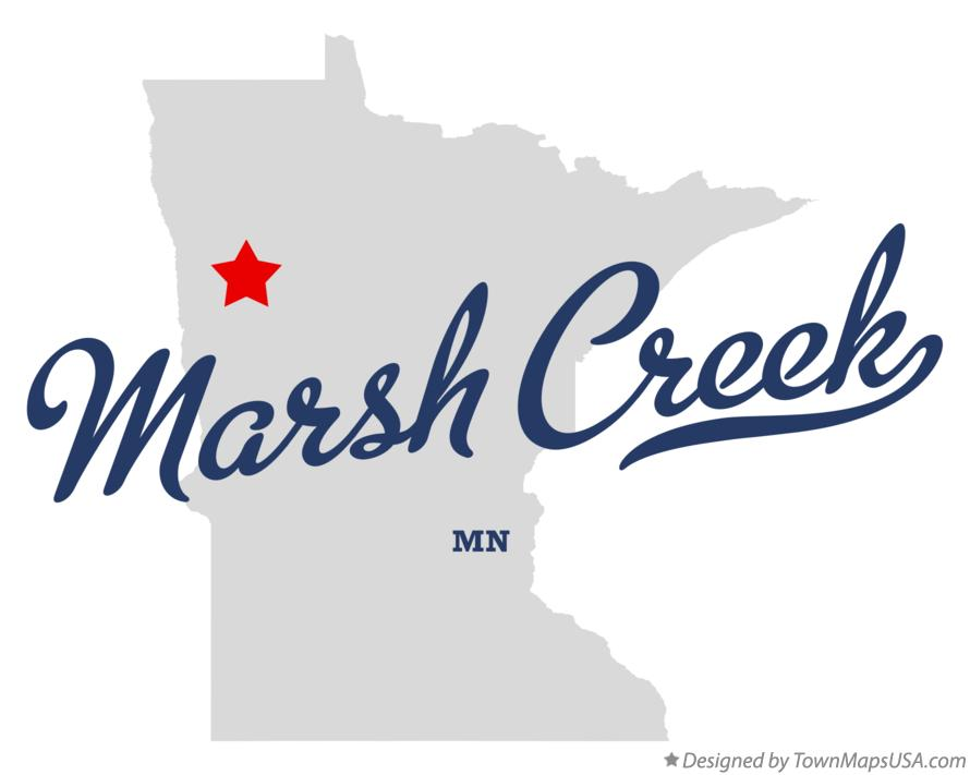 Map of Marsh Creek Minnesota MN