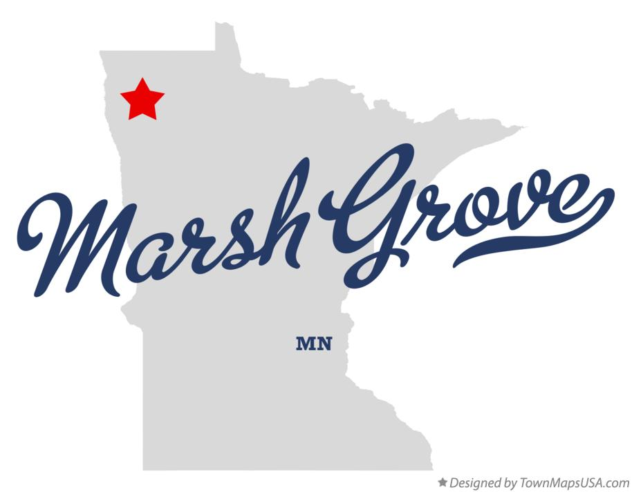 Map of Marsh Grove Minnesota MN