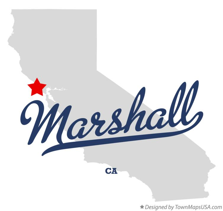 Map of Marshall California CA