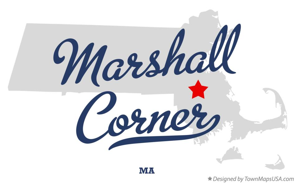 Map of Marshall Corner Massachusetts MA