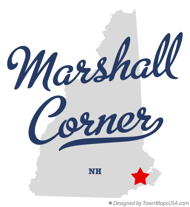 Map of Marshall Corner New Hampshire NH
