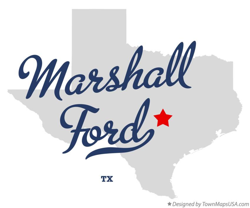 Map of Marshall Ford Texas TX