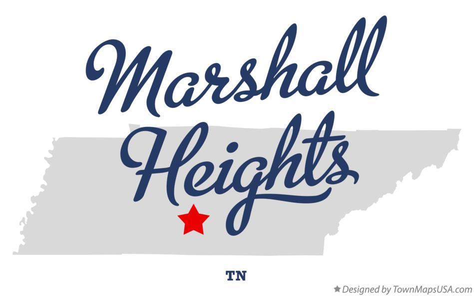 Map of Marshall Heights Tennessee TN