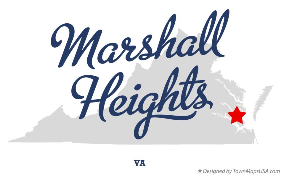 Map of Marshall Heights Virginia VA