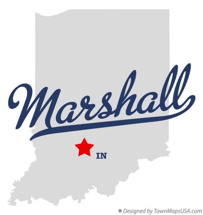 Map of Marshall Indiana IN