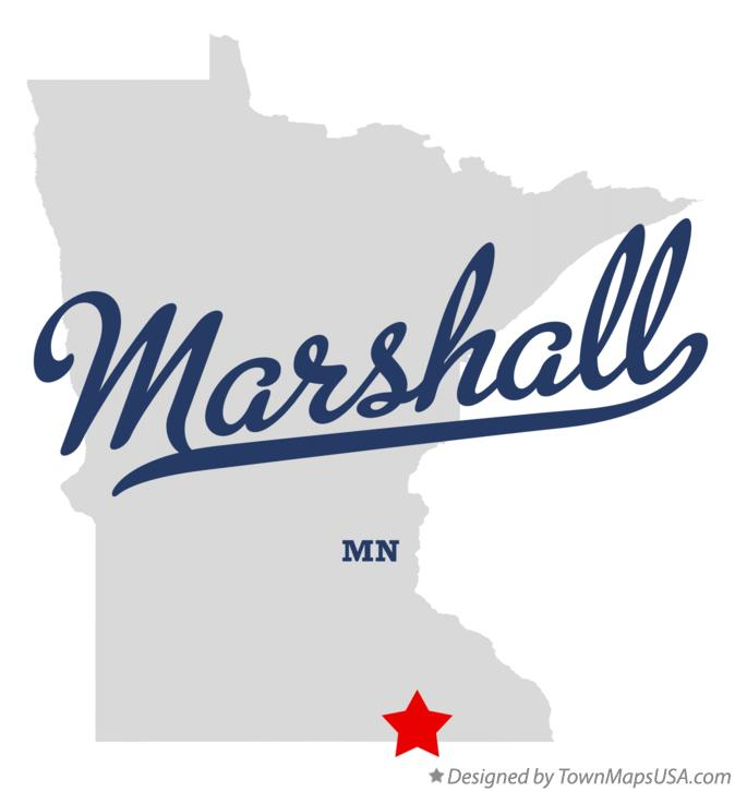 Map of Marshall Minnesota MN